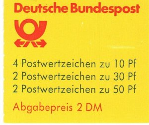 Germany #1231a Complete Booklet CV $4.25 (X9497)