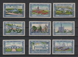USA - 1939 New York World's Fair Lot  of 9 MH Stamps Assortment 3