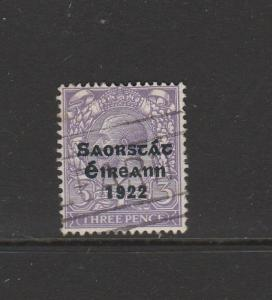 Ireland Opts 1922 Type 5, 3d Used SG 57