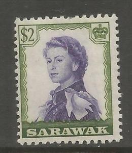 SARAWAK  210  MINT HINGED,  HINGE REMNANT,   ELIZABETH II