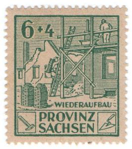 (I.B) Germany Revenue : Saxony Wiederaufbau 10pf (reconstruction)