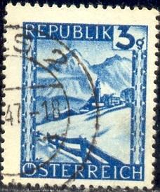 Lermoos Winter Scene Austria Stamp SC455 Used HipStamp
