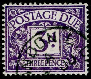 SG D14, 3d dull violet, FINE USED, CDS. WMK BC