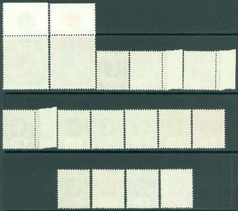 EDW1949SELL : LEEWARD ISLANDS 1954 Scott #133-47 VF MNH Beautiful set Cat $68.00