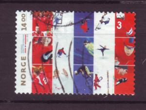 J18468 JLs stamps 2011 norway set of 1 used #1635 sports