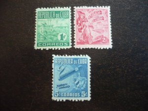 Stamps - Cuba - Scott# 420-422 - Mint Hinged Set of 3 Stamps