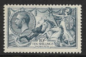 Sg417 Spec N71(2) 10/- Dull Grey-Blue Bradbury Wilkinson Seahorse UNMOUNTED MINT