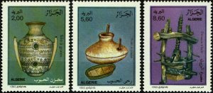 Algeria #983-85  MNH - Traditional Grain Processing (1993)