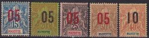 Mayotte #24-8 F-VF Unused  CV $9.60  (Z8063)