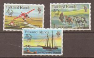 FALKLAND ISLANDS SG368/70 1979 U.P.U MNH