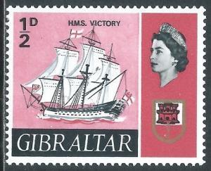 Gibraltar, Sc #186, 1/2d MH