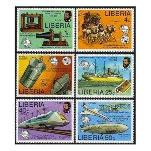Liberia 742-747,C212,MNH.Michel 997-1002,Bl.81. A.Graham Bell,1976.UPU,Concorde,