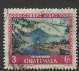 Guatemala - Scott C166 - General Issue -1950 - FU - Single 3c Stamp