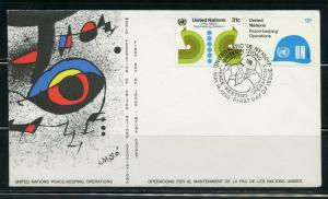 UNITED  NATIONS WFUNA JOAN MIRO CACHETED FIRST DAY COVER