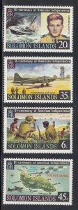 Solomon Islands Scott #333-336 MNH