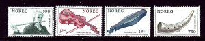 Norway 734-37 MNH 1978 Musical Instruments    (ap4048)