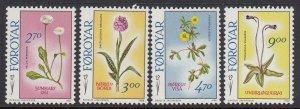 Faroes 169-72 Flowers mnh