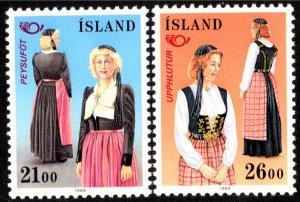Iceland Scott 673-674 Mint never hinged.
