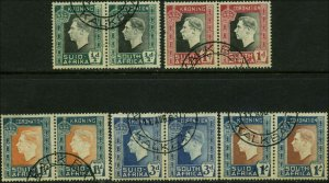 South Africa Scott #74 - #78 Complete Set of 5  Used