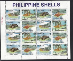 STAMP STATION PERTH Philippines #2568-2569 Shells MNH 2 X Full Sheet of 16 Stamp