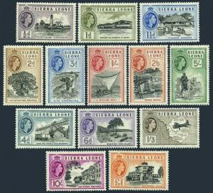 Sierra Leone 195-207,hinged.Michel 176-188. Cape lighthouse,Industry,Law,1956.