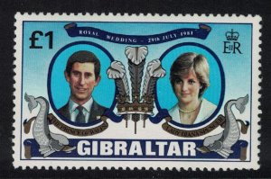 Gibraltar Charles and Diana Royal Wedding 1v SG#450