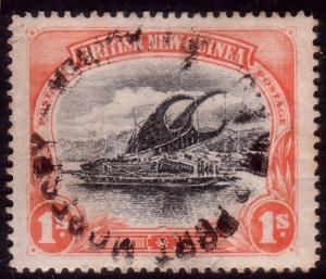 PAPUA 1901-05 1/- Lakatoi SG7 fine used....................................45404