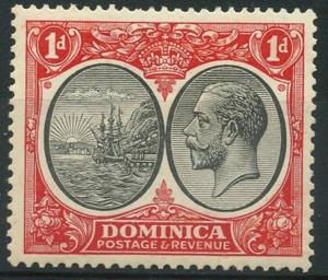 DOMINICA  Sc#67 SG#73 1933 KGV 1d scarlet & black Mint H