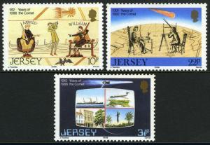 Jersey 393-395, mi 374-376, Postfrisch Comet & Coinciding Historische Events,
