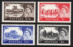 GREAT BRITAIN — SCOTT 309-312 (SG 536-539) — 1955 QEII SET — MNH — SCV $302.50