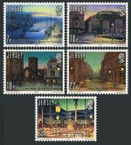 Jersey 275-279,MNH.Michel 257-261. Gas light sesquicentennial,1981.Harbor,Market