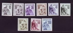 Latvia Sc 318-26 1992 Monuments stamp set mint NH