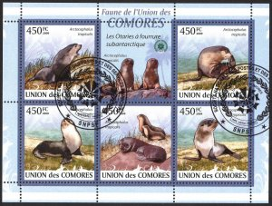 Comoros 2009 Seals Sheet Used / CTO