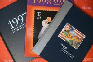 1997 1998 1999 US Commemorative Stamp Yearbooks Postage Publications (NO STAMPS)
