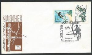 PAPUA NEW GUINEA 1967 cover PANGEX commem cancel...........................12414