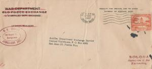 Cover Penalty Envelope Used from British Guiana to Puerto Rico 1947