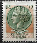 Italy 1977; Sc. # 1289; O/Used; Single Stamp