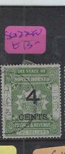 NORTH BORNEO  (P2601B)  4C/$2  ARMS , LION  SG 122   VFU