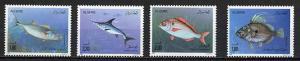 100 MNH COMPLETE SETS OF ALGERIA 1989 FISH  - $730 VALUE - WHOLESALE LOT!