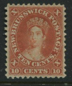 New Brunswick QV 1860 10 cents vermilion VF mint o.g.