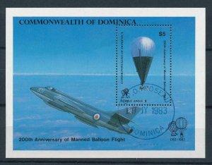 [105763] Dominica 1983 200 years Aviation air balloon Souv. Sheet CTO-USED