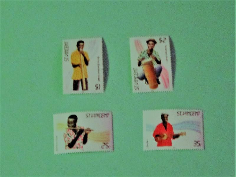St. Vincent - 845-48, MNH Set. Instruments. SCV - $2.00