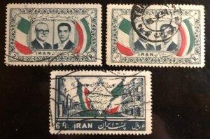 Iran Scott# 1077(2), 1078 Used VF $4.00