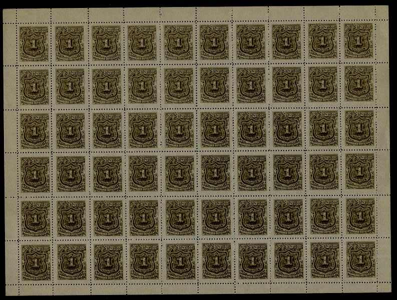 Salvador MNH cpl.sheet of 60,postage due(4)