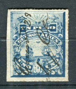 ARGENTINA BUENOS AYRES 1890s early classic Revenue issue fine used 1P.