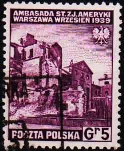 Poland. 1941 5g S.G.478 Fine Used