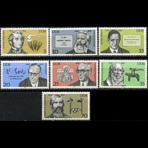 DDR 1978 - Scott# 1926-32 Famous Persons Set of 7 NH