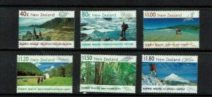 New Zealand: 1999, Scenic Walks, Stamp Booklet containing 7 M/sheets, MNH