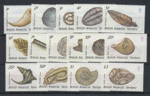 British Antarctic Territory 1990 Fossils Set To £3 SG171/185 J5322