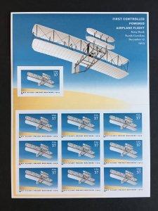 2003 sheet Wright Brothers Centennial Sc# 3783